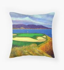 Seven at Pebble Beach Throw Pillow