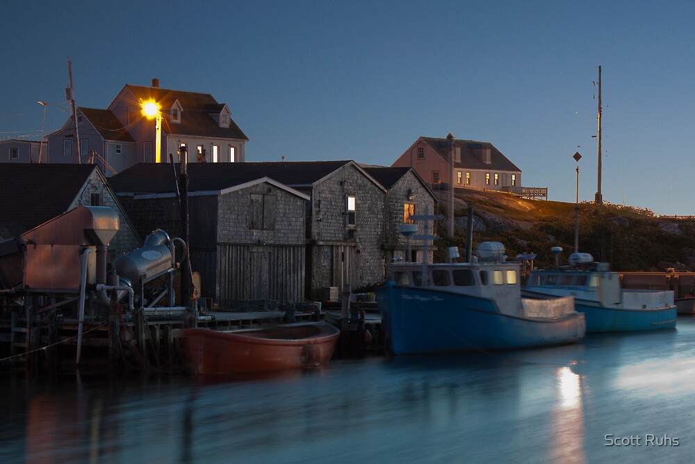 Harbour At Peggy's Cove by Scott Ruhs