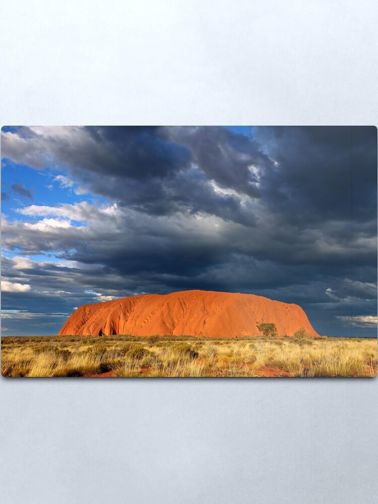 Alternate view of Ayers Rock (Uluru) Sunset, Australia Metal Print