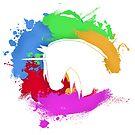 Color Splatter Unicorn by MONOKERUS