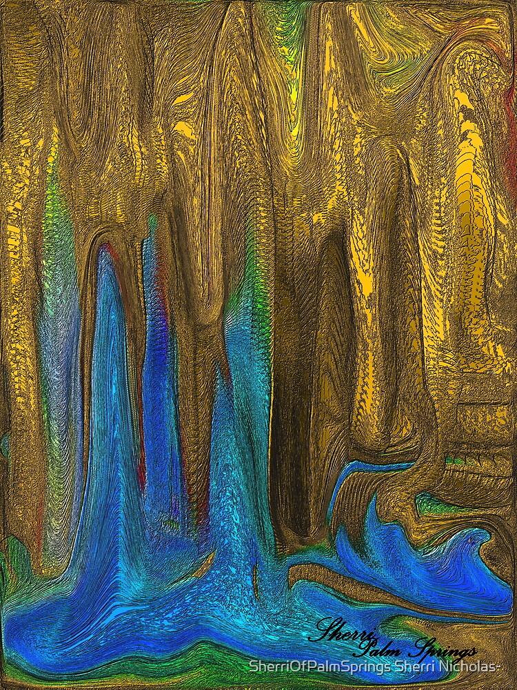 PLANET OF GOLDEN CAVES`  by SherriOfPalmSprings Sherri Nicholas-