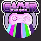 Gamer Girl Ultraviolet Rainbow Controller by GoMerchBubble