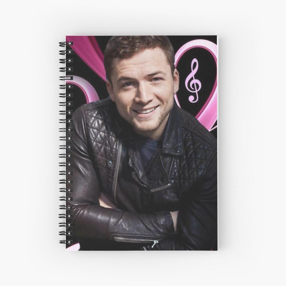 Taron Egerton Spiral Notebook
