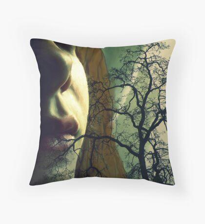 She Speaks Tree Throw Pillow