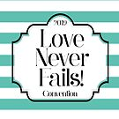 Love Never Fails - Mint Stripes by denisethorn