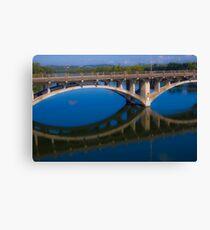 The Lamar Bridge Reflection Canvas Print