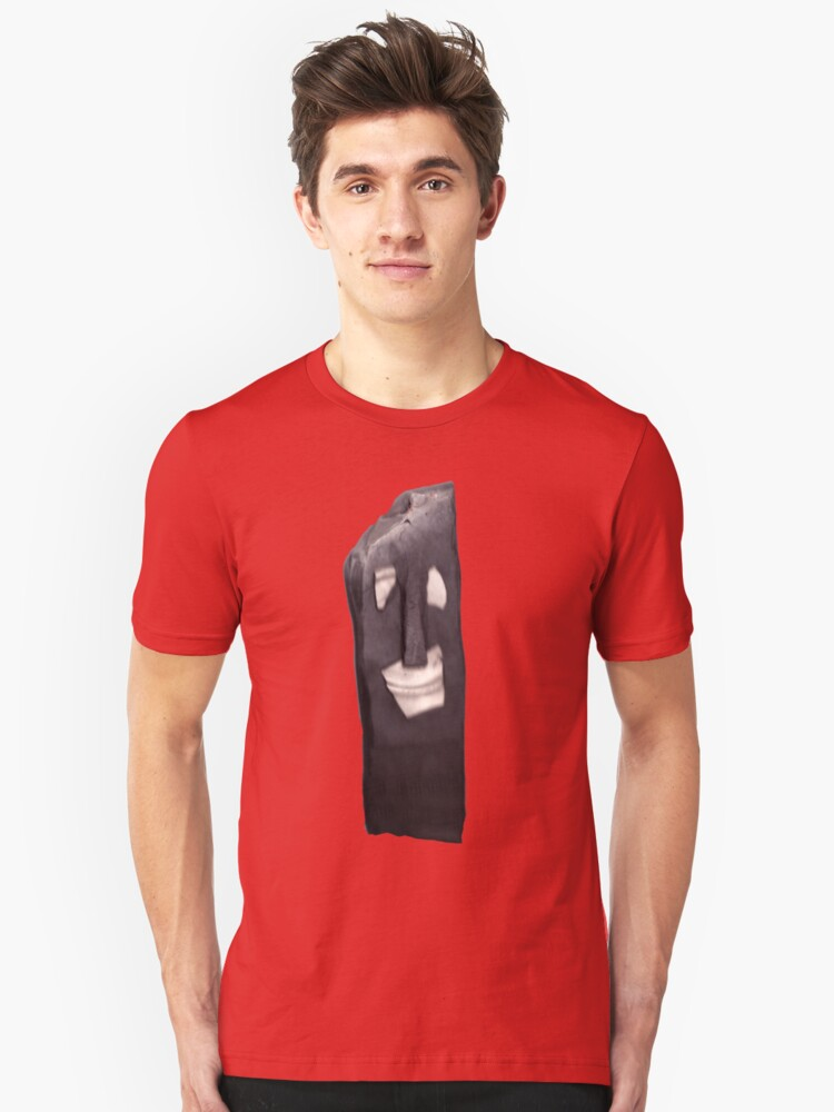 Clayman Homage to easter island Unisex T-Shirt Front