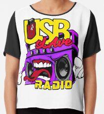 USB sLAve Radio Chiffon Top