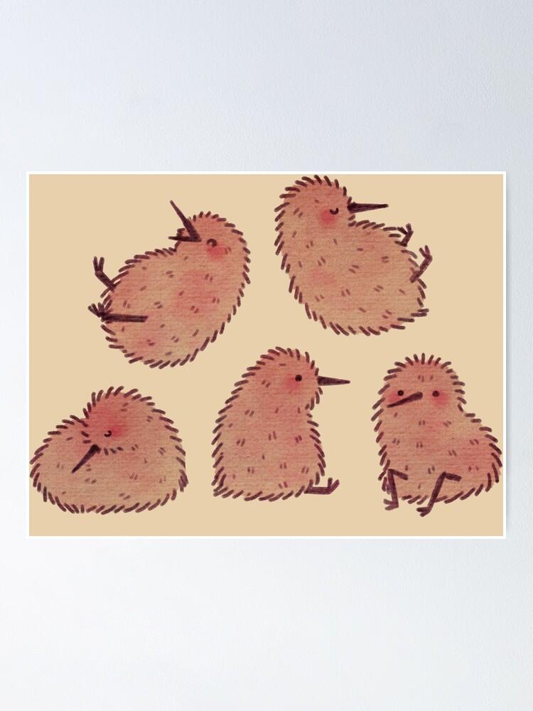 Alternate view of Cute Kiwi Birds  Poster