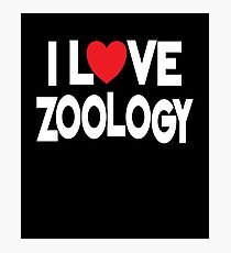 I Love Zoology Fotodruck