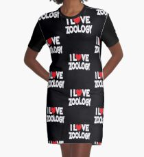 I Love Zoology T-Shirt Kleid