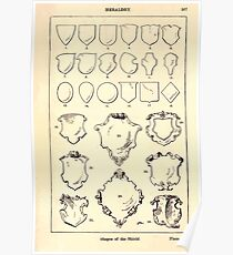 A Handbook Of Ornament With Three Hundred Plates Franz Sales Meyer 1896 0523 Heraldry Shapes Shield Poster