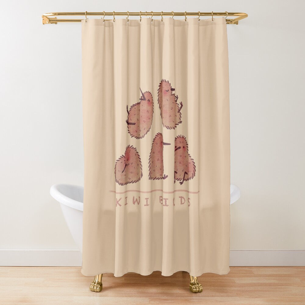 Cute Kiwi Birds 2 Shower Curtain