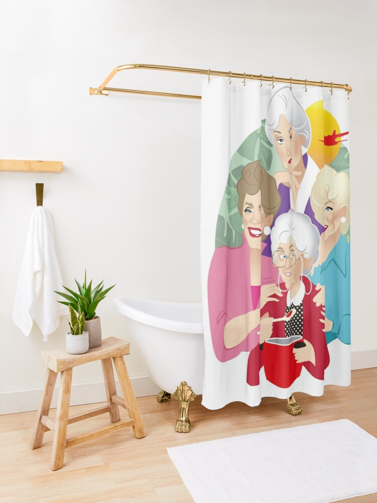 Alternate view of The Girls! Shower Curtain