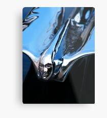 Black Cadillac.... Chrome Thingy Metal Print