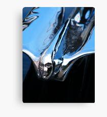 Black Cadillac.... Chrome Thingy Canvas Print