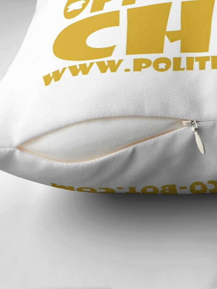 Alternate view of POLITICO'BOT: Equal Opportunity Chibi Throw Pillow