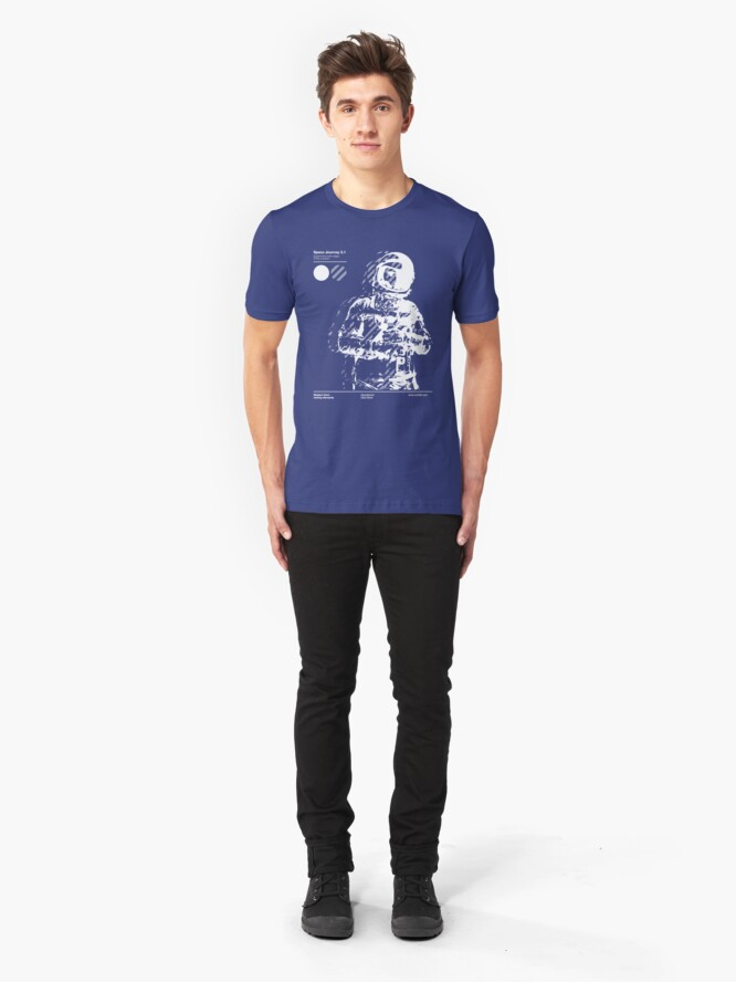 Alternate view of Space Journey 3.1 Slim Fit T-Shirt