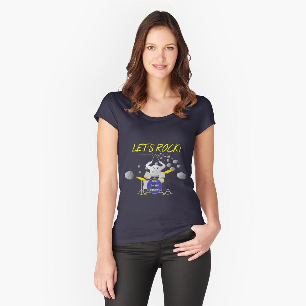 Let's rock with Ceres and the asteroids Fitted Scoop T-Shirt