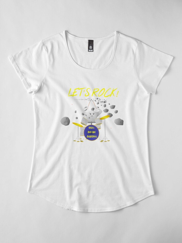 Alternate view of Let's rock with Ceres and the asteroids Premium Scoop T-Shirt