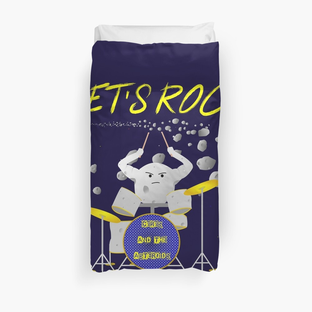Let's rock with Ceres and the asteroids Duvet Cover