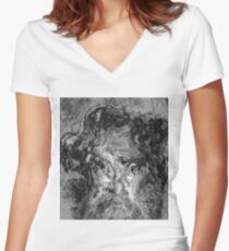 Abysses #2 - I am / We are Charles Women's Fitted V-Neck T-Shirt