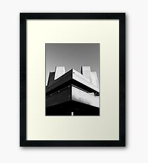Brutalist Entertainment Framed Print