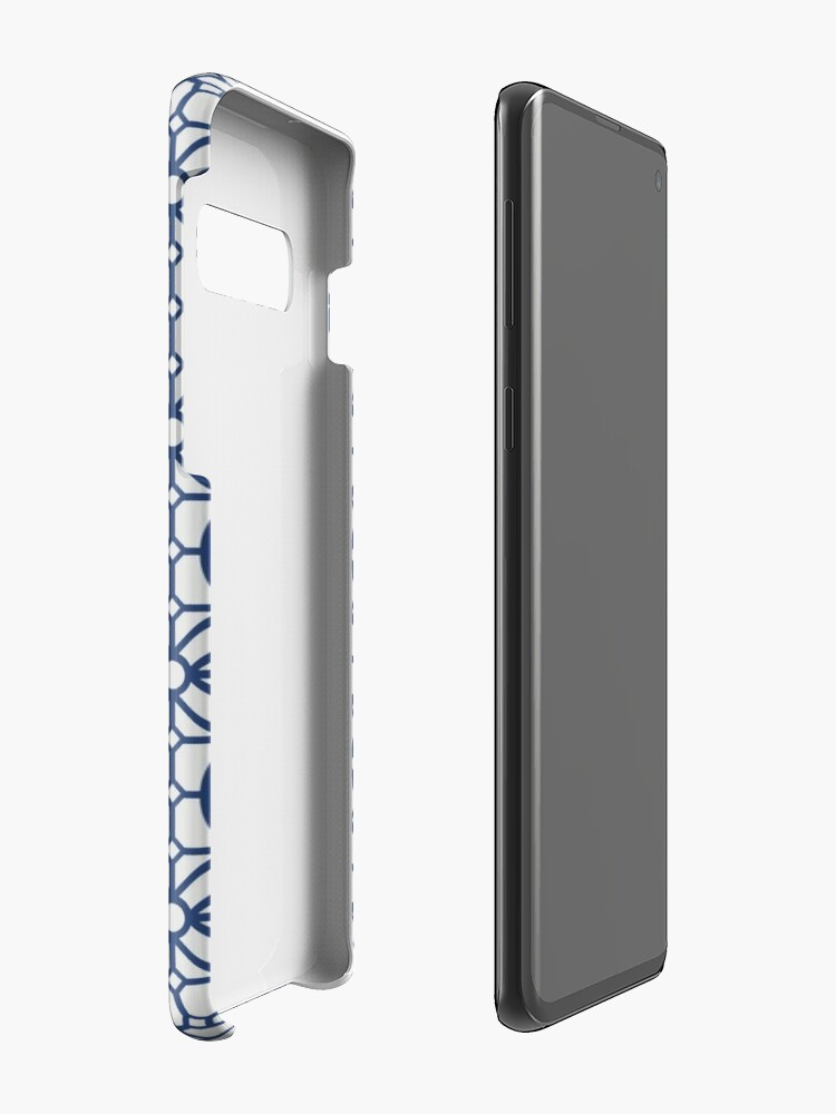 Alternate view of Azul Tiles (Blue on White) Case & Skin for Samsung Galaxy