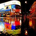 London Rain Color - Piccadilly Circus at Night by DavidGutierrez