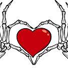 Love Forever - Skeleton Heart  by mavisshelton
