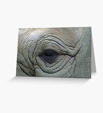 Elephant eye Greeting Card