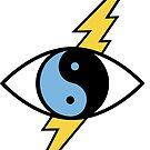 Lightning Yin yang  Eye - Power by mavisshelton