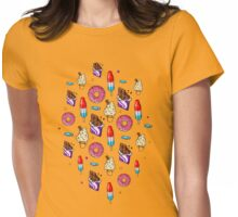 sweet tooth pattern Womens Fitted T-Shirt