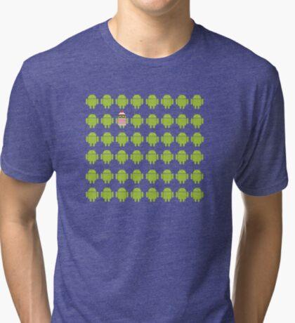 Where's Waldroid advanced Tri-blend T-Shirt
