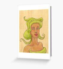 Octopus Mermaid 2 Greeting Card