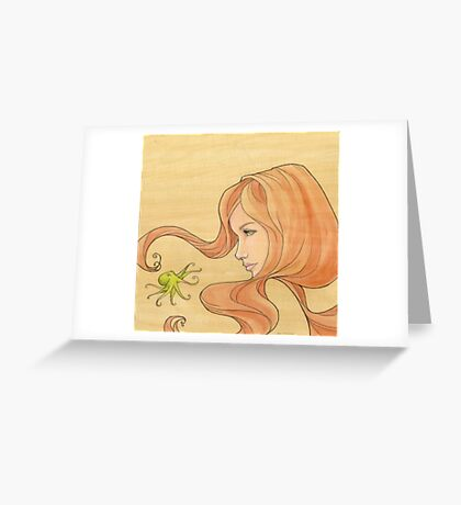 The Octopus Mermaid 1 Greeting Card