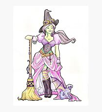 Steampunk Wicked Witch of the West Photographic Print