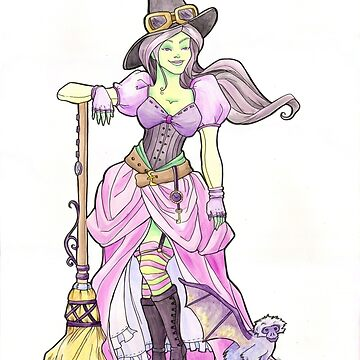 Steampunk Wicked Witch of the West by khallion
