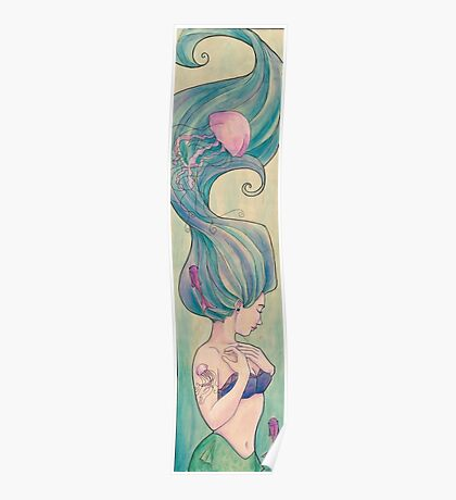 Tattooed Mermaid 10 Poster