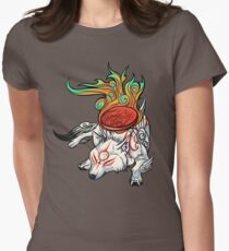 Okami - Amaterasu Rests Womens Fitted T-Shirt