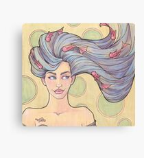 Tattooed Mermaid 7 Canvas Print