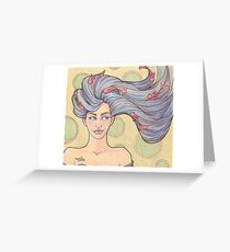 Tattooed Mermaid 7 Greeting Card