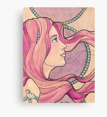Tattooed Mermaid 5 Canvas Print