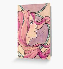 Tattooed Mermaid 5 Greeting Card