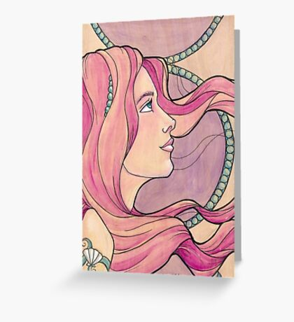 Tattooed Mermaid 5 Greeting Card