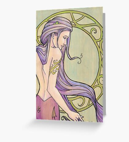 Tattooed Mermaid 3 Greeting Card