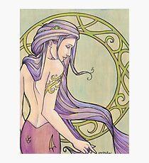 Tattooed Mermaid 3 Photographic Print