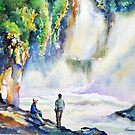 "08-08-10 ""Moist"" : ""พักผ่อนหย่อนใจ สายน้ำละมุนละมัย""Note: Waterfall picture from John P.'s Tutorial  by BuaS"