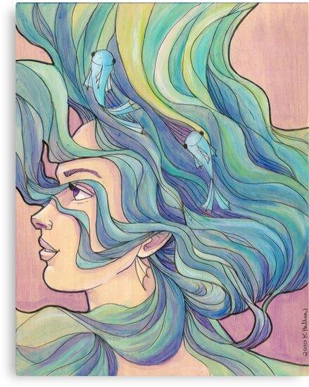 Ocean Wave by Karen  Hallion