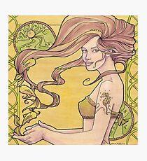 Tattooed Mermaid 2 Photographic Print